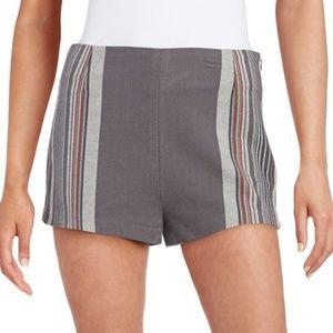 Free People Shorts - Free People Knit Grey Stripe Shorts Neuman Size 2